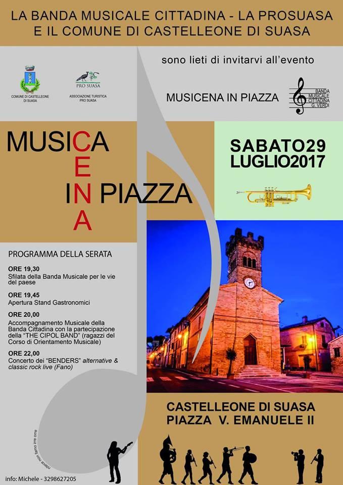 musica in piazza Castelleone di Suasa